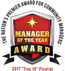 Manager of the Year Award - 2017 Top 10 Finalist - The Nation's Premier Award for Community Managers